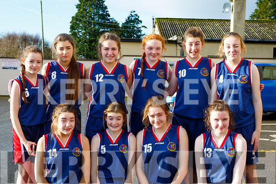 The Causeway Comprehensive girls basketball team Castleisland Community Centre for ETB Girls Basketball blitz.