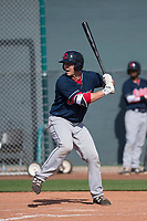 Cleveland Indians designated hitter Simeon Lucas (28) during a Minor League Spring Training game against the San Francisco Giants at the San Francisco Giants Training Complex on March 14, 2018 in Scottsdale, Arizona. (Zachary Lucy/Four Seam Images)