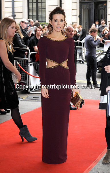 NON EXCLUSIVE PICTURE: PAUL TREADWAY / MATRIXPICTURES.CO.UK<br /> PLEASE CREDIT ALL USES<br /> <br /> WORLD RIGHTS<br /> <br /> English actress Kate Beckinsale attending the 2014 Jameson Empire Awards, at the Grosvenor House Hotel in London.<br /> <br /> MARCH 30th 2014<br /> <br /> REF: PTY 141590