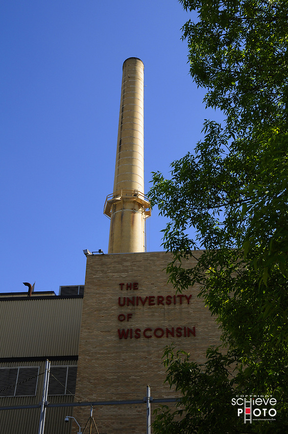 University of Wisconsin-Madison heating and cooling plant on Charter Street in Madison, Wisconsin.