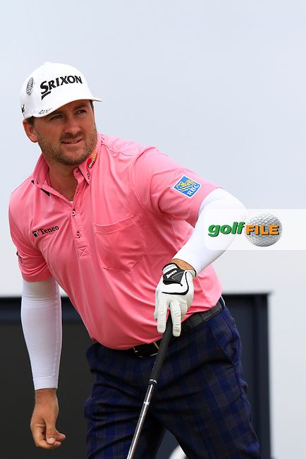Graeme McDOWELL (NIR) tees off the 16th tee during Monday's Final Round of the 144th Open Championship, St Andrews Old Course, St Andrews, Fife, Scotland. 20/07/2015.<br /> Picture Eoin Clarke, www.golffile.ie