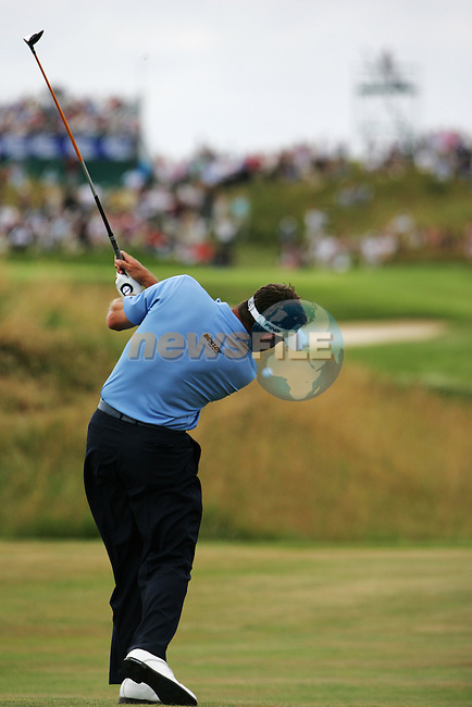 Lee Westwood plays his 2nd shot on the 14th hole during the final round of the 2008 Open de France Alstom at Golf National, Paris, France June 29th 2008 (Photo by Eoin Clarke/GOLFFILE)