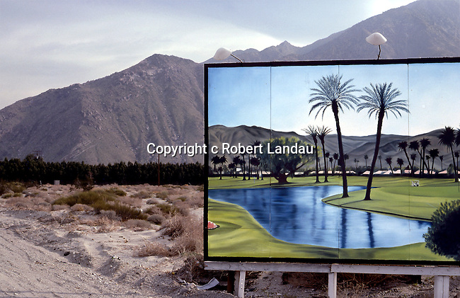 Billboard in Desert, Palm Springs,  1979