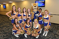 12 August 2011:  FIU's Golden Dazzlers and mascot Roary pose for a picture during the FIU 2011 Panther Preview at University Park Stadium in Miami, Florida.