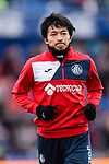 Gaku Shibasaki of Getafe CF Warming up during the La Liga 2017-18 match between Getafe CF and SD Eibar at Coliseum Alfonso Perez Stadium on 09 December 2017 in Getafe, Spain. Photo by Diego Souto / Power Sport Images