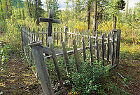 Native cemetery in the small mining town of Wiseman, Brooks Range, Alaska