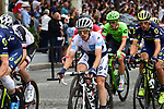 The peloton including White Jersey Simon Yates (GBR) orica-Scott on the Champs-Elysees during Stage 21 of the 104th edition of the Tour de France 2017, an individual time trial running 1.3km from Montgeron to Paris Champs-Elysees, France. 23rd July 2017.<br /> Picture: ASO/Pauline Ballet | Cyclefile<br /> <br /> <br /> All photos usage must carry mandatory copyright credit (&copy; Cyclefile | ASO/Pauline Ballet)