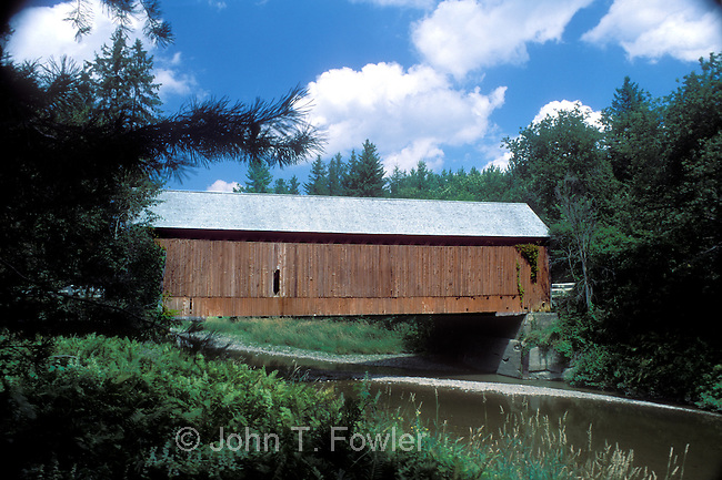 Covered Bridge over Salmon River at Milby, Quebec, Canada