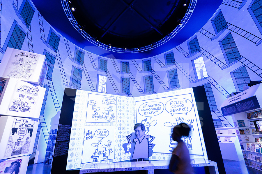 S&Atilde;O PAULO, 23.12.2018 - EXPOSI&Ccedil;&Atilde;O QUADRINHOS - Movimenta&ccedil;&atilde;o no Museu da Imagem e do Som (MIS) durante a exposi&ccedil;&atilde;o Quadrinhos. A exospi&ccedil;&atilde;o ser&aacute; exibida at&eacute; o mes de mar&ccedil;o de 2018 sem restri&ccedil;&atilde;o de idade.<br /> <br /> (Foto: Fabricio Bomjardim / Brazil Photo Press)