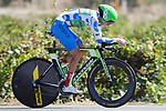 Polka Dot Jersey David Villella (ITA) Cannondale Drapac in action during Stage 16 of the 2017 La Vuelta, an individual time trial running 40.2km from Circuito de Navarra to Logro&ntilde;o, Spain. 5th September 2017.<br /> Picture: Unipublic/&copy;photogomezsport | Cyclefile<br /> <br /> <br /> All photos usage must carry mandatory copyright credit (&copy; Cyclefile | Unipublic/&copy;photogomezsport)