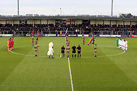 during AFC Fylde vs Leyton Orient, Vanarama National League Football at Mill Farm on 3rd November 2018 - one mins silence