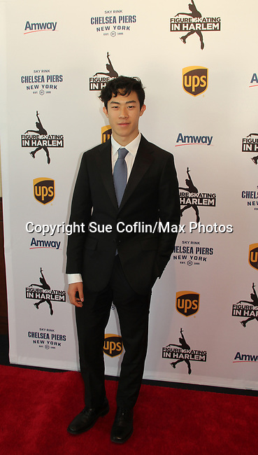 Nathan Chen - 2018 World champion figure skate and 2018 Winter Olympic bronze medalist in the team event - Figure Skating in Harlem's Champions in Life (in its 21st year) Benefit Gala recognizing the medal-winning 2018 US Olympic Figure Skating Team on May 1, 2018 at Pier Sixty at Chelsea Piers, New York City, New York. (Photo by Sue Coflin/Max Photo)