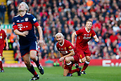 24th March 2018, Anfield, Liverpool, England; LFC Foundation Legends Charity Match 2018, Liverpool Legends versus FC Bayern Legends; Liverpool Legends player-manager Ian Rush watches as the ball break high and loose