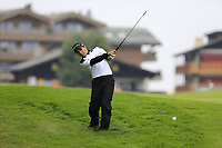 Fabrizio Zanotti (PAR) plays his 2nd shot from the rough on the 1st hole during Saturday's Round 3 of the 2017 Omega European Masters held at Golf Club Crans-Sur-Sierre, Crans Montana, Switzerland. 9th September 2017.<br /> Picture: Eoin Clarke | Golffile<br /> <br /> <br /> All photos usage must carry mandatory copyright credit (&copy; Golffile | Eoin Clarke)