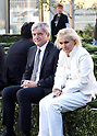 April 19, 2017, Tokyo, Japan - French fashion giant Dior CEO Sidney Toledano (L) chats with Italian designer Maria Grazia Chiuri before Dior's 2017 spring-summer haute couture collection at the rooftop of the Ginza Six in Tokyo on Wednesday, April 19, 2017. Tokyo's new landmark Ginza Six will open on April 20 where Dior will have its flagship store.     (Photo by Yoshio Tsunoda/AFLO) LwX -ytd-