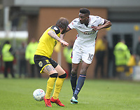 Bolton Wanderers Sammy Ameobi in action with Burton Albion's John Brayford<br /> <br /> Photographer Mick Walker/CameraSport<br /> <br /> The EFL Sky Bet Championship - Burton Albion v Bolton Wanderers - Saturday 28th April 2018 - Pirelli Stadium - Burton upon Trent<br /> <br /> World Copyright &copy; 2018 CameraSport. All rights reserved. 43 Linden Ave. Countesthorpe. Leicester. England. LE8 5PG - Tel: +44 (0) 116 277 4147 - admin@camerasport.com - www.camerasport.com