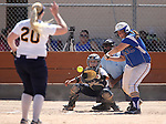 Wildcats' Lauren Lesniak hits against College of Southern Nevada at Edmonds Sports Complex Carson City, Nev., on Saturday, May 2, 2015.<br /> Photo by Cathleen Allison