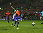 Fernandinho of Manchester City scores the equalising goal during the Champions League Group C match at the Celtic Park Stadium, Glasgow. Picture date: September 28th, 2016. Pic Simon Bellis/Sportimage