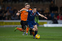 8th November 2019; Dens Park, Dundee, Scotland; Scottish Championship Football, Dundee Football Club versus Dundee United; Cammy Kerr of Dundee races away from Louis Appere of Dundee United  - Editorial Use