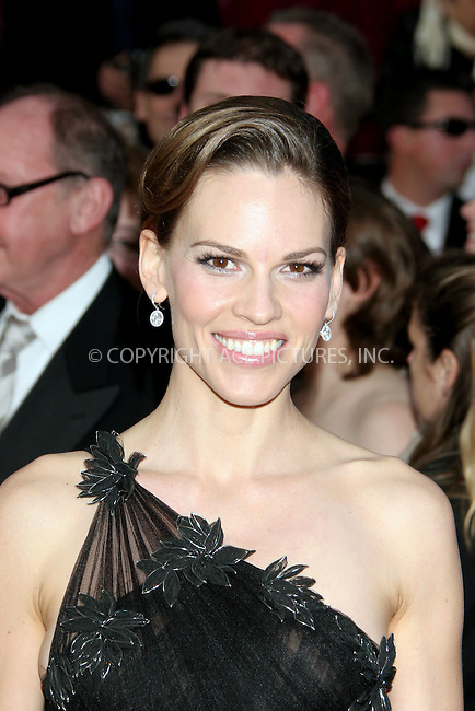 Feb 24, 2008 - Hollywood, California, USA - Actress HILARY SWANK arriving at the 80th Annual Academy Awards held at the Kodak Theatre in Hollywood.