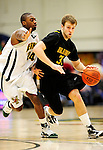 30 January 2010: University at Albany Great Danes' forward Billy Allen, a Sophomore from Hamilton, Ohio, in action against the University of Vermont Catamounts at Patrick Gymnasium in Burlington, Vermont. The Catamounts defeated the Danes 64-46 in the America East matchup. Mandatory Credit: Ed Wolfstein Photo