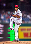 23 May 2017: Washington Nationals starting pitcher Joe Ross on the mound in the first inning against the Seattle Mariners at Nationals Park in Washington, DC. The Nationals defeated the Mariners 10-1 to take the first game of their inter-league series. Mandatory Credit: Ed Wolfstein Photo *** RAW (NEF) Image File Available ***