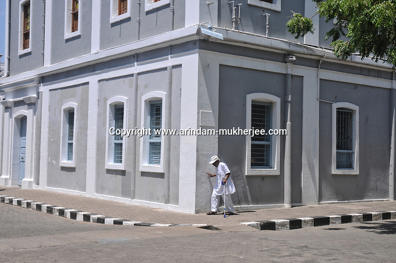 An old man on a street in Pondicherry. Arindam Mukherjee