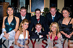 PAL: The best of pal having a good time at the Presentation Debs, in the Abbey Gate Hotel, Tralee on Friday night. Front l-r: Aziza Asmatuxllaeva, Cliodhna Carmody, Sarah Morris and Julia Samul. Back l-r: Bobby Lynch, Paudie O'Shea, Eamon Morrissey and Darren Goodall.......