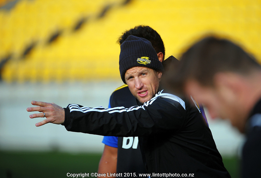 Hurricanes trainer David Gray during the Hurricanes captain's run before the Super Rugby final between the Hurricanes and Highlanders at Westpac Stadium, Wellington, New Zealand on Friday, 3 July 2015. Photo: Dave Lintott / lintottphoto.co.nz