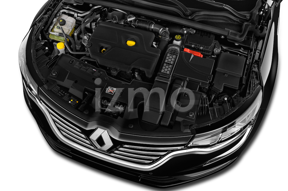 Car Stock 2016 Renault Talisman Intens 4 Door Sedan Engine  high angle detail view