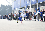 A Leicester City fan cartwheels as fans que for the new Leicester shirt  before the Barclays Premier League match at the King Power Stadium Leicester. Photo credit should read: Nathan Stirk/Sportimage<br /> <br /> <br /> <br /> <br /> <br /> <br /> <br /> <br /> <br /> <br /> <br /> <br /> <br /> <br /> <br /> <br /> <br /> <br /> <br /> <br /> <br /> <br /> <br /> <br /> <br /> <br /> <br /> <br /> <br /> <br /> <br /> - Newcastle Utd vs Tottenham - St James' Park Stadium - Newcastle Upon Tyne - England - 19th April 2015 - Picture Phil Oldham/Sportimage