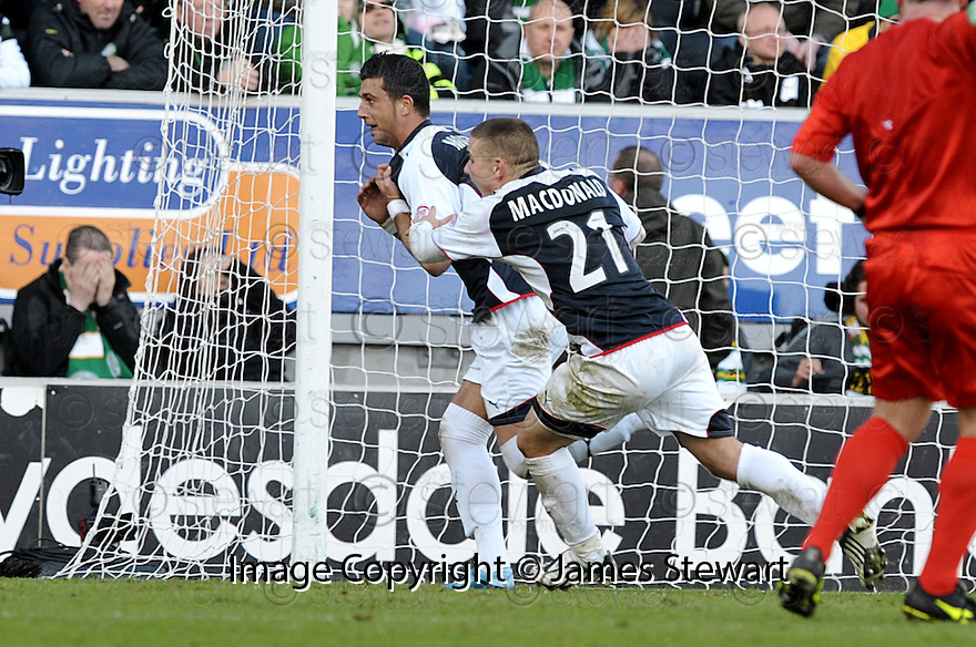 08/11/2009  Copyright  Pic : James Stewart.sct_jspa16_falkirk_v_celtic  . :: PEDRO MOUTINHO CELEBRATES AFTER HE SCORES FALKIRK'S SECOND :: .James Stewart Photography 19 Carronlea Drive, Falkirk. FK2 8DN      Vat Reg No. 607 6932 25.Telephone      : +44 (0)1324 570291 .Mobile              : +44 (0)7721 416997.E-mail  :  jim@jspa.co.uk.If you require further information then contact Jim Stewart on any of the numbers above.........