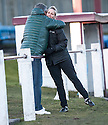 Stirling manager Shelley Kerr is congratulated at the end of the game.