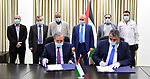 "Palestinian Prime Minister Mohammad Ishtayeh, attends signing a memorandum of understanding between ""Refugee Affairs"" and ""Waqfet Ezz"" to support the needy students in the camps, in the West Bank city of Ramallah, on July 20, 2020. Photo by Prime Minister Office"