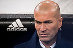 Coach Zinedine Zidane of Real Madrid looks on during the La Liga match between Real Madrid and Real Sociedad at the Santiago Bernabeu Stadium on 29 January 2017 in Madrid, Spain. Photo by Diego Gonzalez Souto / Power Sport Images
