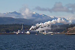 Port Townsend Paper, Pulp Mill, Port Townsend, Olympic Mountains, Washington State, Pacific Northwest,
