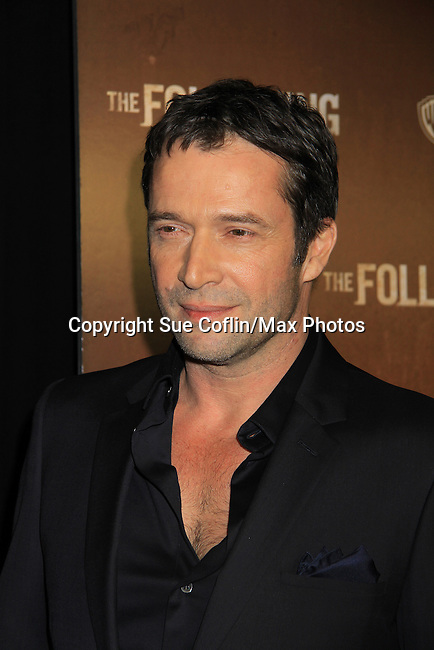 "James Purefoy as the serial killer stars in ""The Following"", Fox's new tv series on Mondays, which held its world premiere on January 19, 2013 at the New York Public Library, New York City, New York. (Photo by Sue Coflin/Max Photos)"