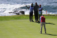 Kevin Streelman (USA) putts on 7th green at Pebble Beach Golf Links during Saturday's Round 3 of the 2017 AT&amp;T Pebble Beach Pro-Am held over 3 courses, Pebble Beach, Spyglass Hill and Monterey Penninsula Country Club, Monterey, California, USA. 11th February 2017.<br /> Picture: Eoin Clarke | Golffile<br /> <br /> <br /> All photos usage must carry mandatory copyright credit (&copy; Golffile | Eoin Clarke)