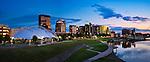 Dayton Ohio skyline summer evening with breakers construction