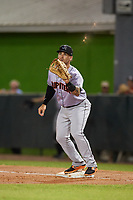 Jupiter Hammerheads first baseman John Silviano (22) waits to receive a throw during a game against the Daytona Tortugas on April 13, 2018 at Jackie Robinson Ballpark in Daytona Beach, Florida.  Daytona defeated Jupiter 9-3.  (Mike Janes/Four Seam Images)