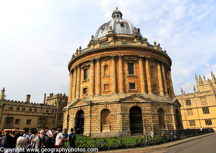 Radcliffe Camera building, University of Oxford, England, UK architect James Gibbs, neo-classical style 1737–1749