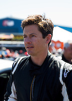 Mar 14, 2014; Gainesville, FL, USA; Top Gear host and racer Tanner Foust in attendance during NHRA qualifying for the Gatornationals at Gainesville Raceway Mandatory Credit: Mark J. Rebilas-USA TODAY Sports