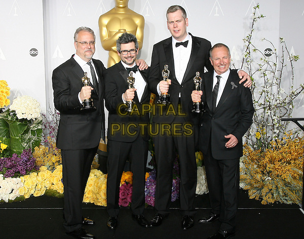 02 March 2014 - Hollywood, California - Skip Lievsay, Niv Adiri, Christopher Benstead, Chris Munro. 86th Annual Academy Awards held at the Dolby Theatre at Hollywood &amp; Highland Center. <br /> CAP/ADM<br /> &copy;AdMedia/Capital Pictures