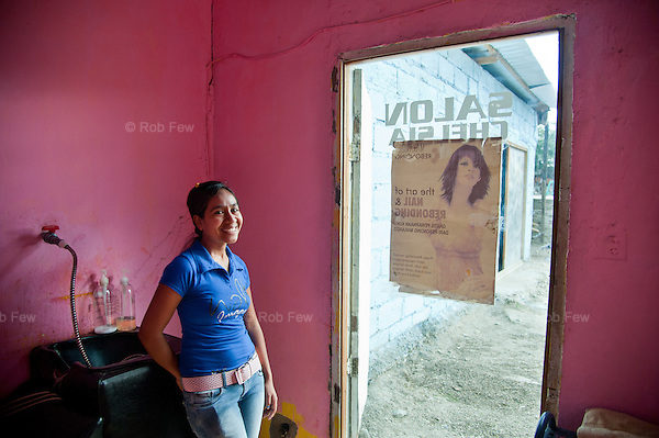 This is Martina Soures Martines. She was on another Plan training scheme, this time for would-be hairdressers. Previously unemployed, now she works in the Chelsea Salon in Dili and hopes to open her own business in the future.