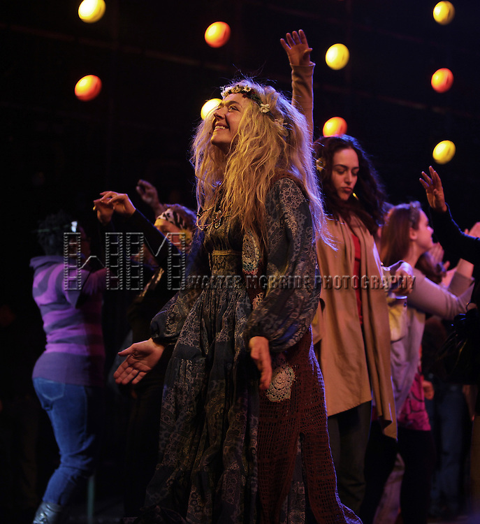 """AnnaLeigh Ashford.joining a complete new """"Tribe"""" taking to the stage for the very first time in the Broadway Smash HAIR at the Al Hirschfeld Theatre in New York City. The evening marks Broadway History as the Biggest Cast Change is made in Forty Years..March 9, 2010.© Walter McBride /"""
