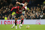 Tottenham's Harry Kane and Bournemouth's Jefferson Lerma challenge for the ball during the Premier League match at the Tottenham Hotspur Stadium, London. Picture date: 30th November 2019. Picture credit should read: Paul Terry/Sportimage
