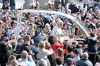 Pope Benedict XVI during his weekly general audience in St. Peter square at the Vatican, Wednesday 23,march 2011