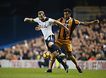 Tottenham's Harry Kane tussles with Hull's Tom Huddlestone during the Premier League match at White Hart Lane Stadium, London. Picture date December 14th, 2016 Pic David Klein/Sportimage