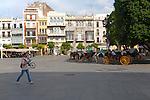 Historic buildings, Plaza de San Francisco, Seville, Spain