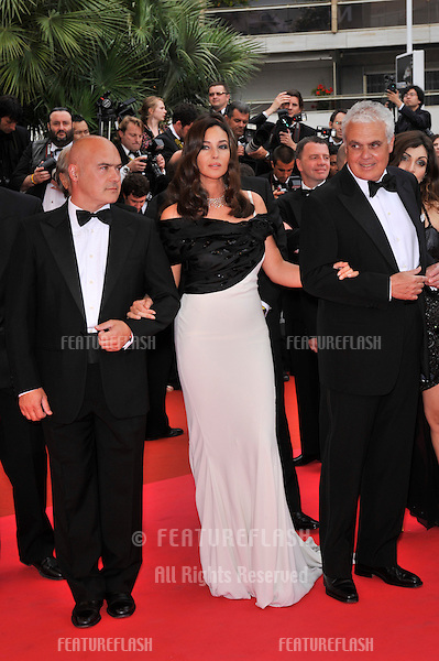 "Monica Bellucci with Luca Zingaratti (left) & director Marco Tullio Giordana at the premiere of their new movie ""Sanguepazzo at the 61st Annual International Film Festival de Cannes..May 19, 2008  Cannes, France..Picture: Paul Smith / Featureflash"